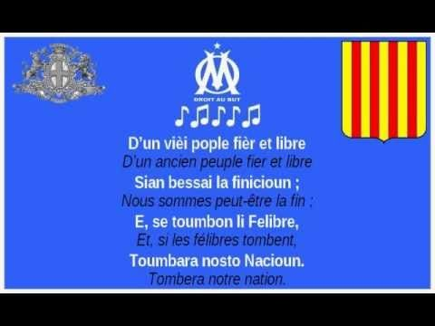 """OM - Hymne provençal """"La Coupo Santo"""". (paroles et traduction)"""