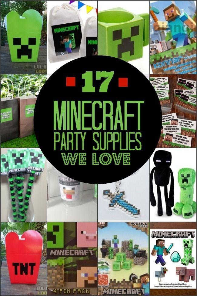 The 25 best Minecraft party supplies ideas on Pinterest
