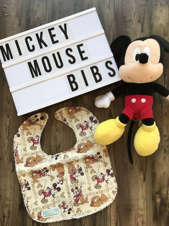 Handmade Mickey Mouse Bibs