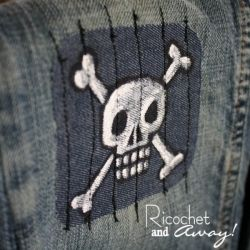 Add some tough new patches to your little boy's jeans.