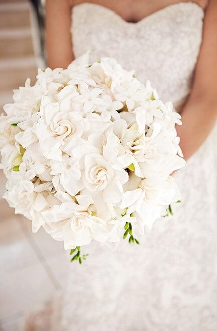 The white color will always be synonymous with purity and chastity. White wedding flowers become the choice of many brides to symbolize the purity of the