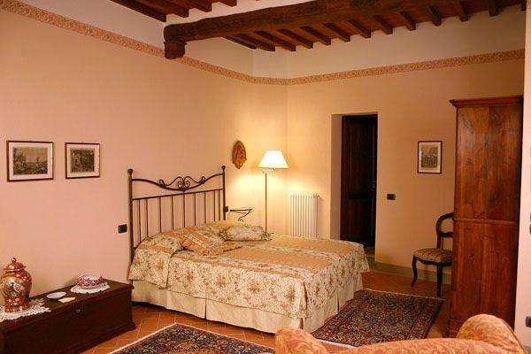 Our double bedroom, Cortona, Tuscany
