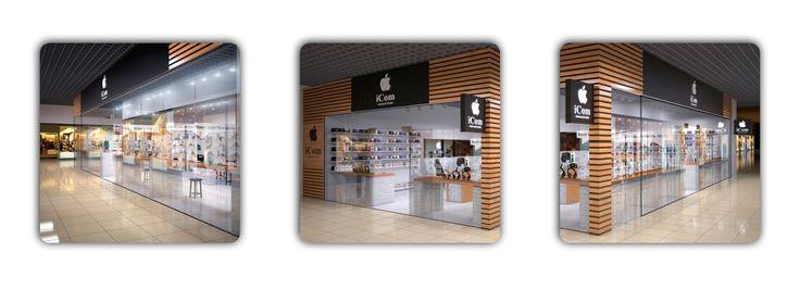 Дизайн интерьера магазина. Высокотехнологичное решение для компании, реализующей современную аудио- и видеотехнику, а также аксессуары