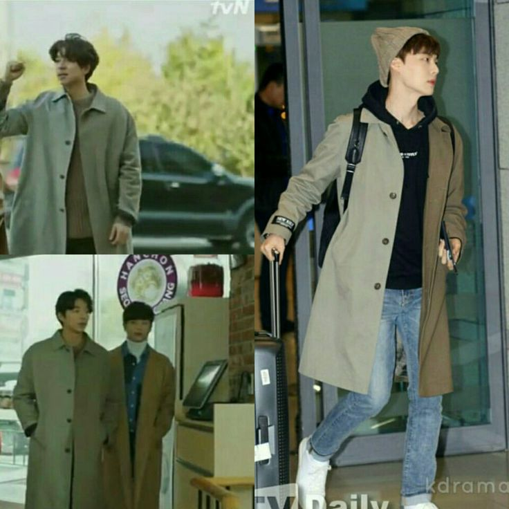 Gong Yoo X Ahn Jae Hyun 👉 No one can beat Dokkaebi Ahjussi and his love for coat 😂😂😂