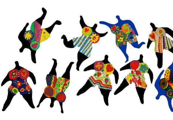Tanzende Nanas nach Niki de Saint Phalle