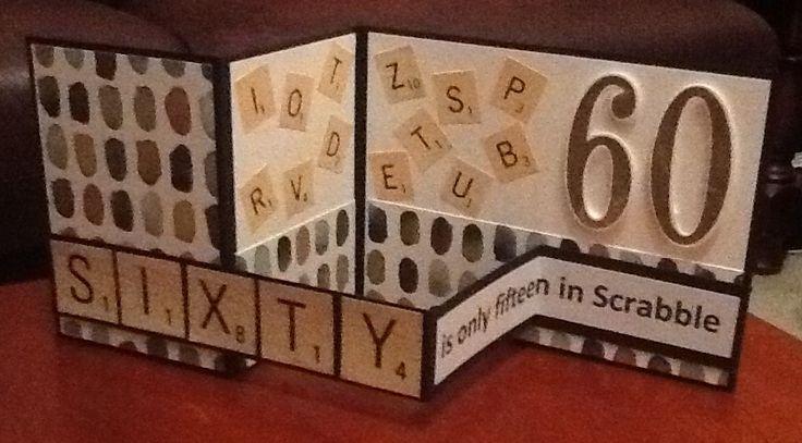 Scrabble double Z fold card