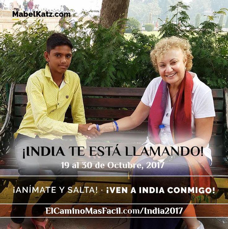 ¡India te está llamando! ¡Anímate y salta! ¿Vienes conmigo en Octubre? ¡No te pierdas esta oportunidad única! Reserva tu lugar AHORA (Precio Especial hasta el 31/8): http://elcaminomasfacil.com/india2017