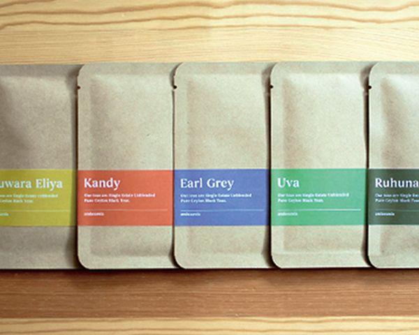 Ceylon tea branding on Behance
