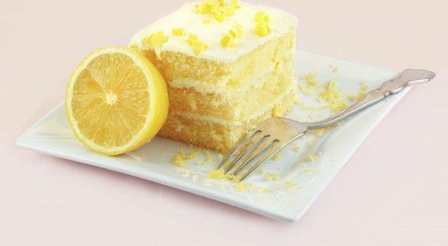 Κέϊκ λεμονιού με λεμωνάτη κρέμα τυριού