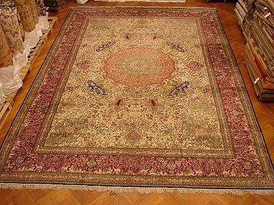 Extra Large Silk Rug New Handmade Pictorial Wildlife This Mansion Size Ia All In China Made Out Of It Is Elegant Fancy