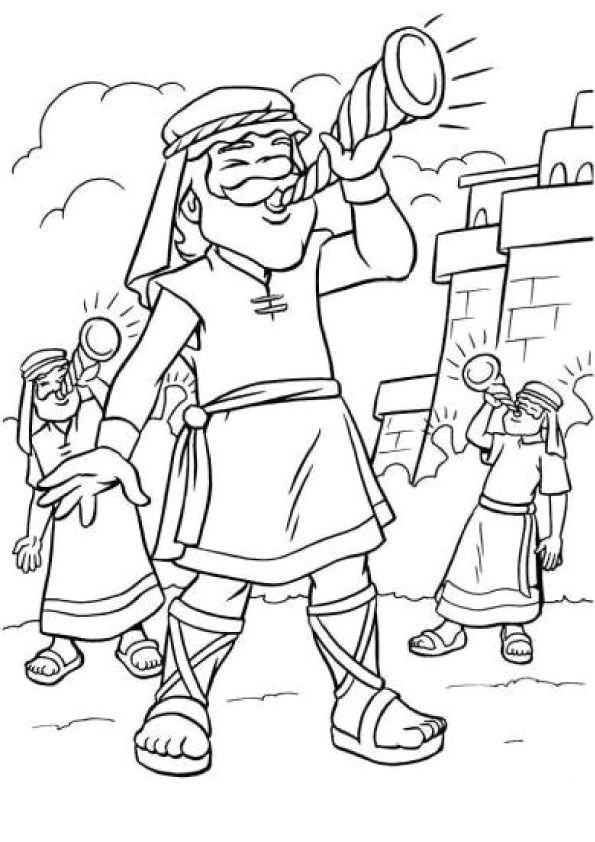 Jericho Coloring Page Sunday School Coloring Pages Bible