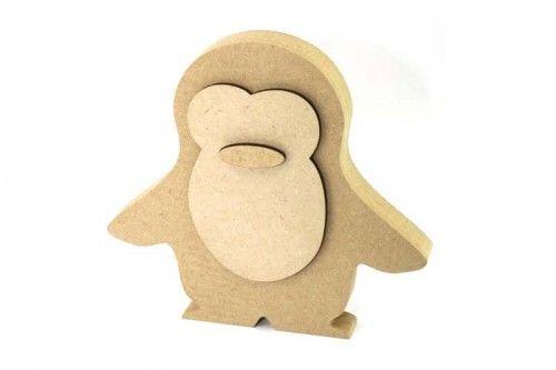 Penguin freestanding 18mm blank craft shapes http://www.lornajayne.co.uk/