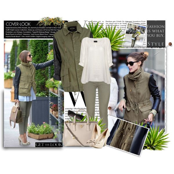Get the look of this khaki Parka and Olivia Palermo