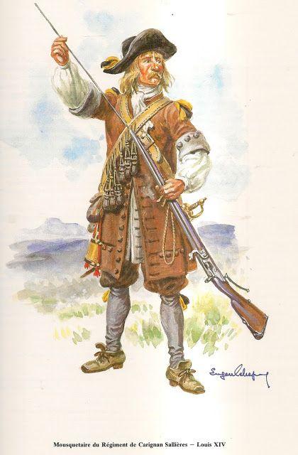 Musketeer Regiment de Carignan Sallieres Louis XIV