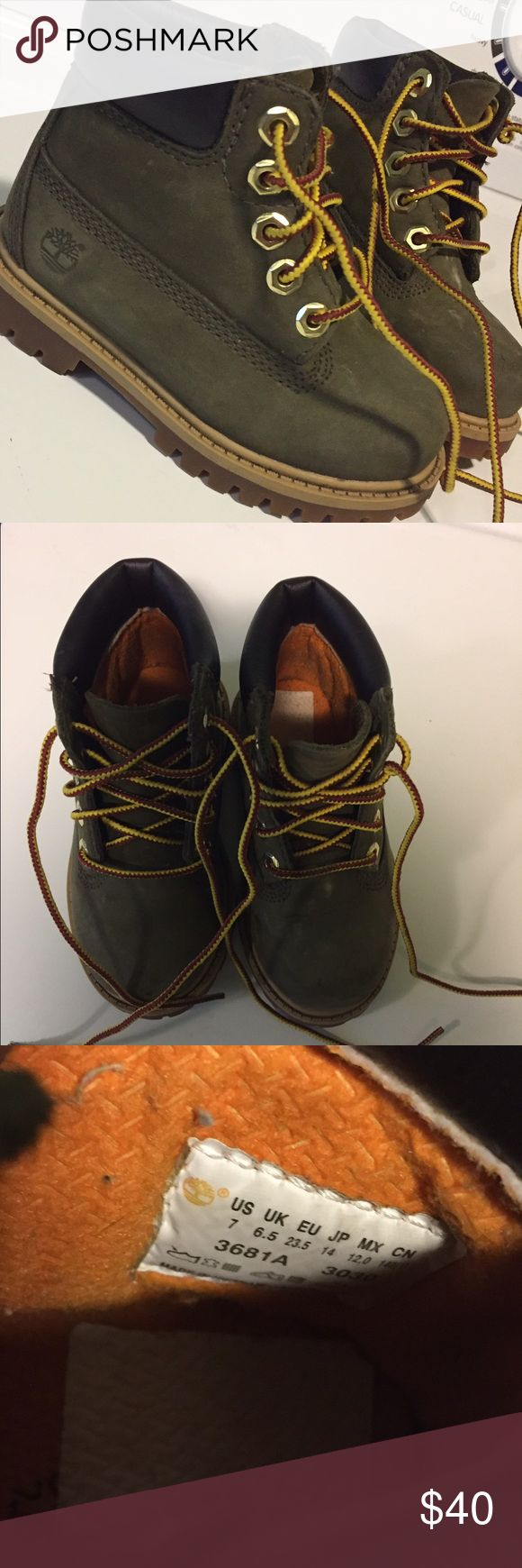 Toddler Winter Boots Olive Green Toddler Boys Timberland Boots size 7! Timberland Shoes Winter & Rain Boots
