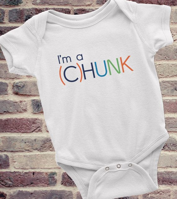 Funny Onesie I'm a CHUNK Cute Baby Clothes by KennieBlossoms