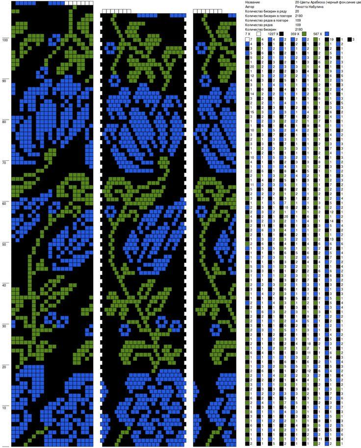 20-Цветы Арабеска (черный фон,синие цветы)_Ринатта Набулина.png