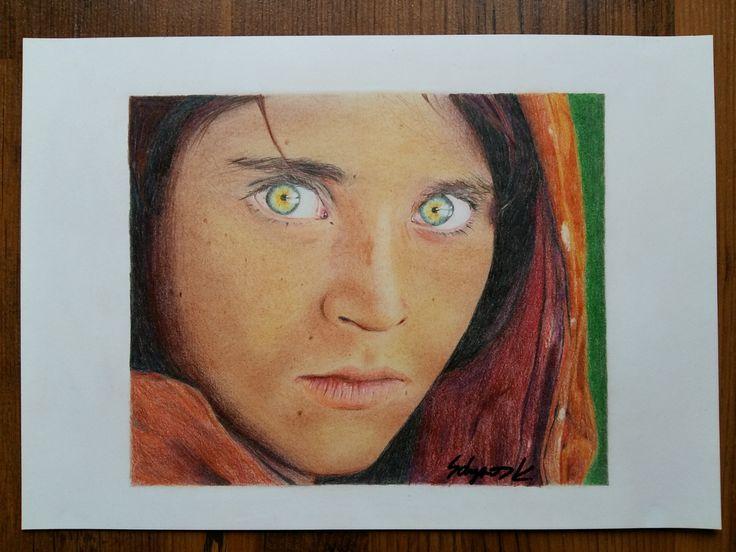portré - színes ceruza, Solymos Krisztina rajza