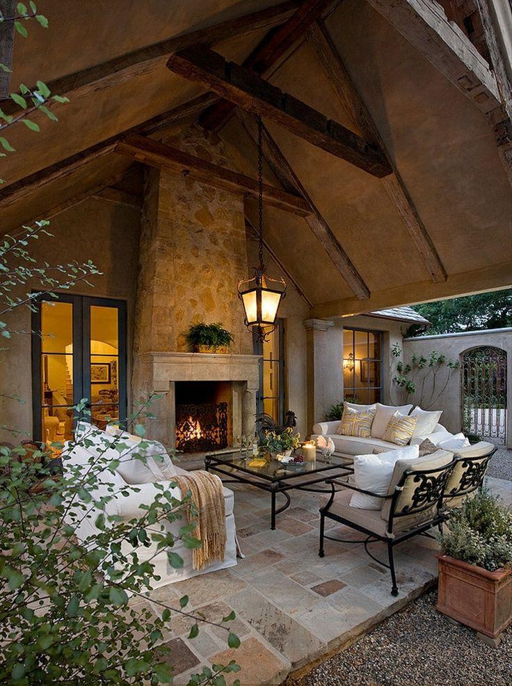 1000 id es sur le th me chemin e porche sur pinterest v randas grillag es porches et chemin es - Maison rustique luxe montecito grant ...