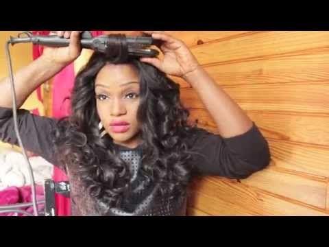 Comment mettre des FLEXI RODS ( bigoudis flexibles) / Bouncy Curls Using Bendy Rollers/Flexi Rods - YouTube