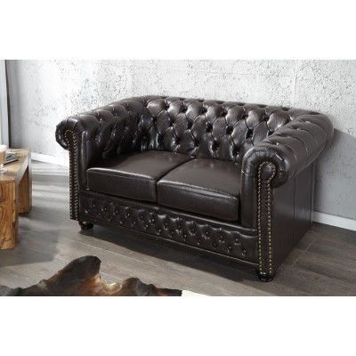 Chesterfield Dark Small Sofa  #furniture #vintage #vintagecollections #homedecor #interiordesign #housegoals  #irenesworld #home