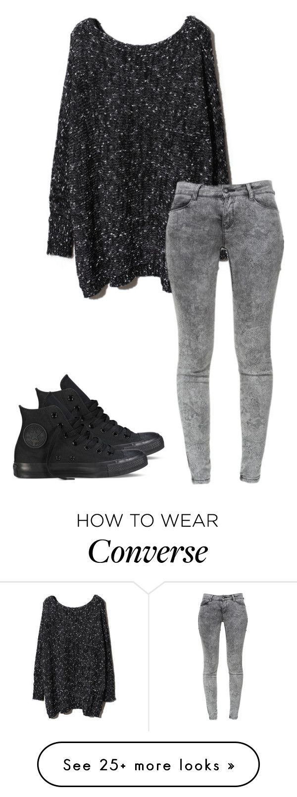 """""""Untitled #306"""" by lullabycake on Polyvore featuring Zara and Converse"""