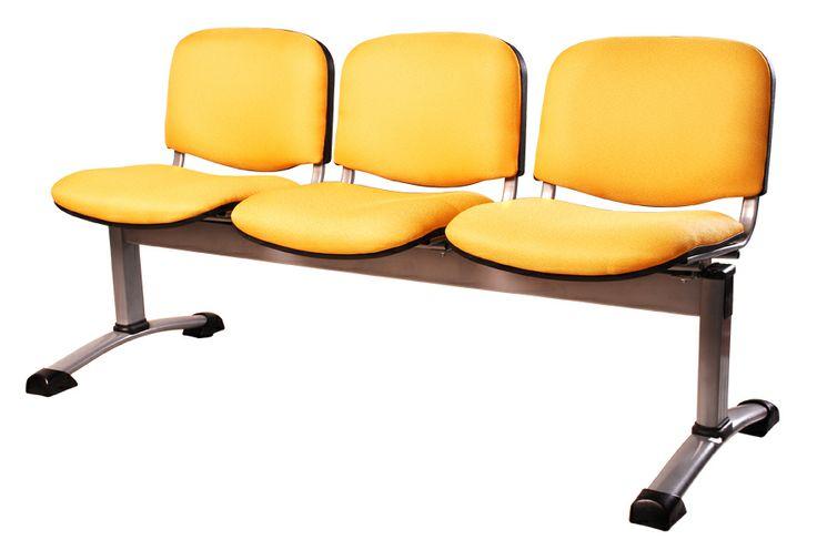 Tandem Tapizado espaldar y asiento / Disponible en varios colores en 2,3 y 4 puestos.