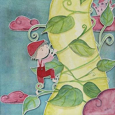 Jack et le haricot magique (conte anglais) | © Anne-Laure Charlery | Grain de vent | Illustration à l'aquarelle | graindevent.com