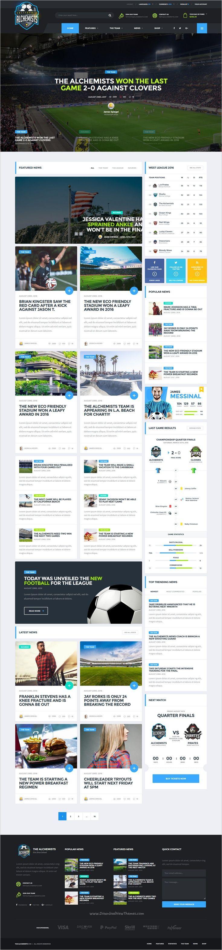 Alchemists   Basketball, Soccer, Football Sports Club And News HTML Template