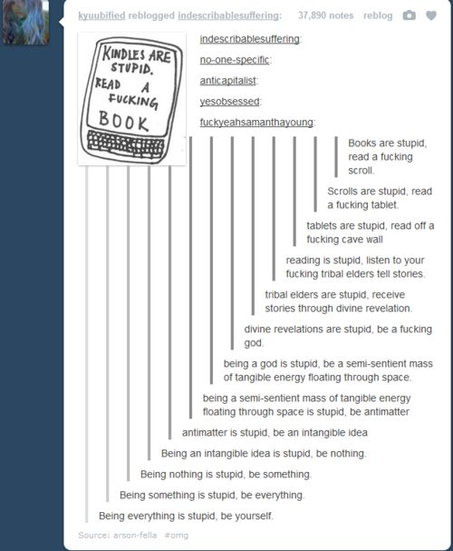 I like how it goes from like normal to science side of tumblr to inspirational side of tumblr