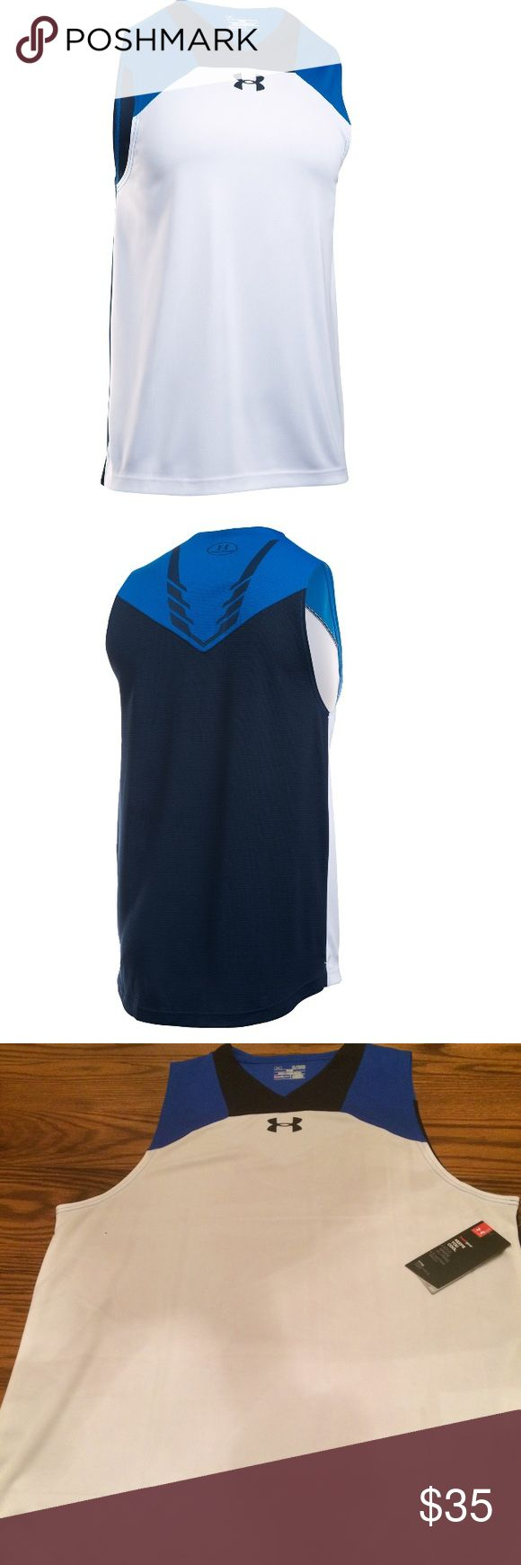 Under Armour Men's UA Select Tank Top Polyester. Machine washable. Next to skin fit. Moisture Transport system helps to keep you dry. Breathable closed hole mesh panel at back Under Armour Shirts Tank Tops