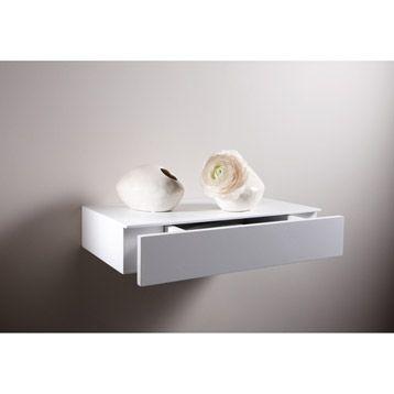 Tablette décorative tiroir en mdf, 23x23cm, ép. 80 mm | Leroy Merlin  20,30 Euros