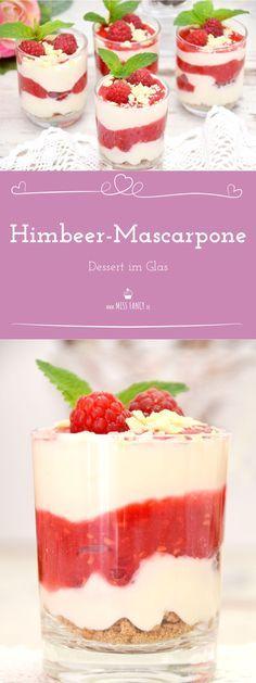 Sommer-Dessert im Glas: Himbeer-Mascarpone-Schichtdessert mit Quark