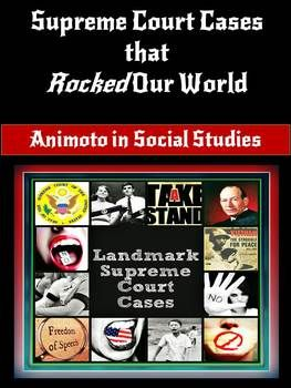 Animoto in Social Studies Project Based Learning - Landmark Supreme Court Cases That Rocked Our World is an exciting, dynamic research-based project designed for secondary students. This project works well with individual students or in cooperative learning pairs. Students will showcase their learning about a Landmark Supreme Court Case by creating an educational music video using the free online Animoto in Education technology tool! $4.00