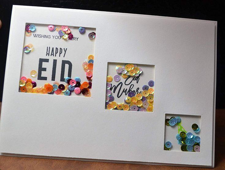 handmade shaker eid mubarak card eid decoration  diy eid