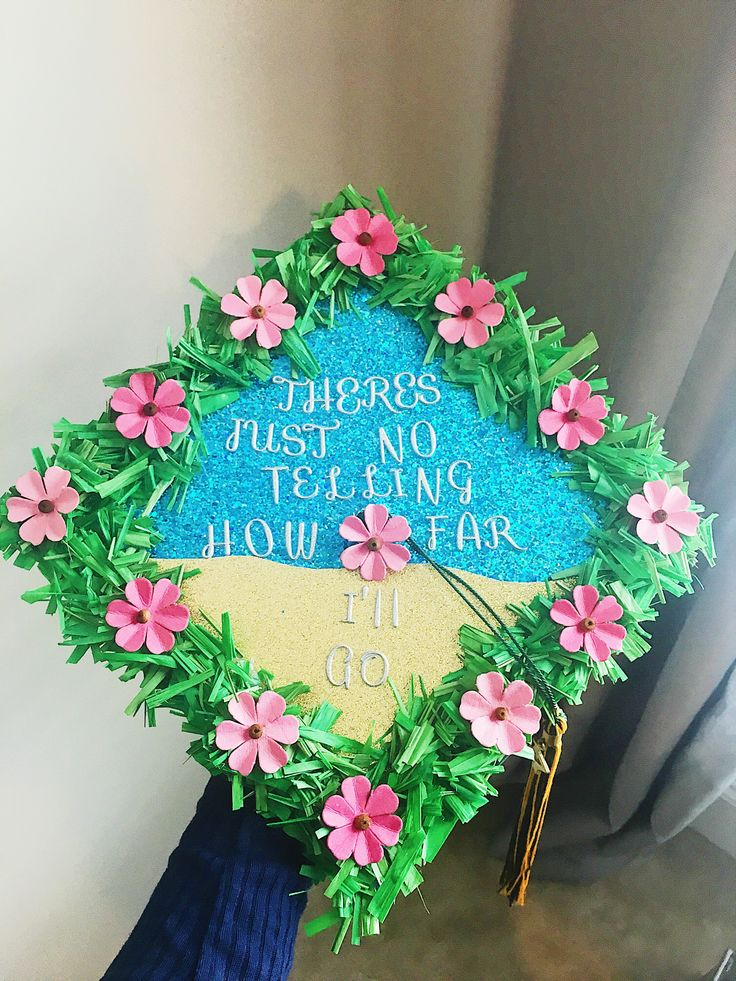 My Moana inspired graduation cap is ready. Obsessed!!