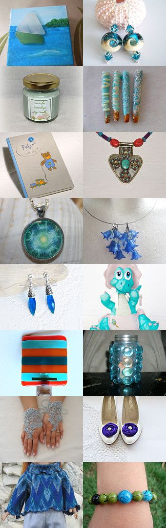 Sail Away on a Pale Blue Sea by Patricia and Rebecca on Etsy--Pinned+with+TreasuryPin.com