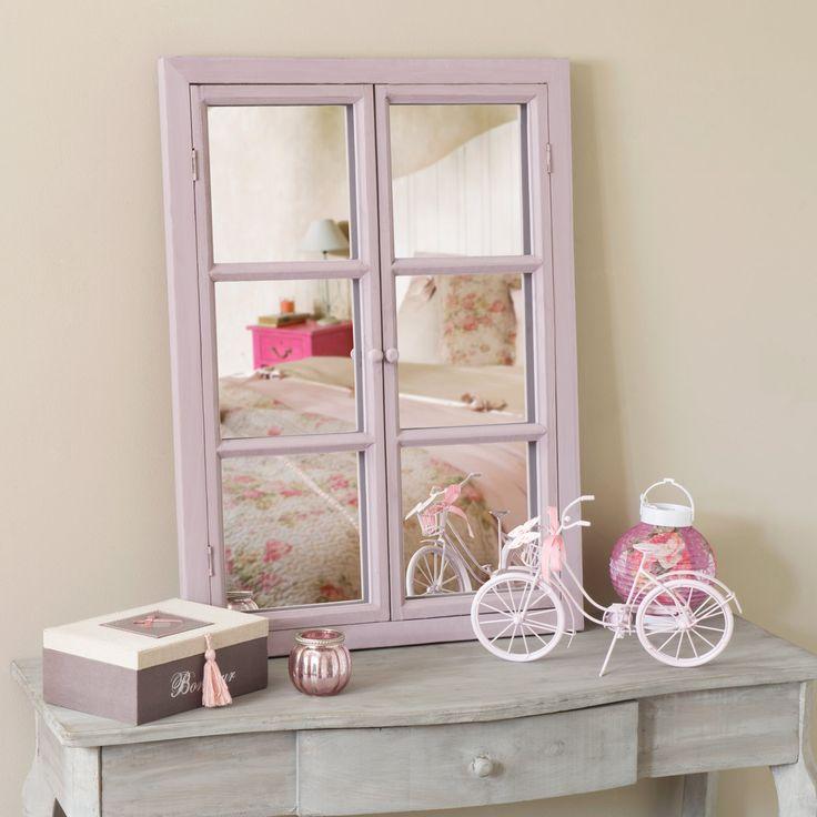 Specchio a finestra viola mammola