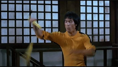 Bruce Lee nunchakus in film