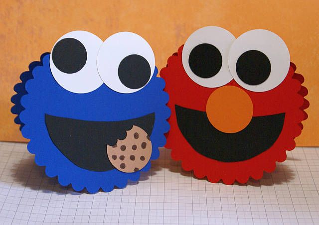 Elmo and Cookie Monster Cards