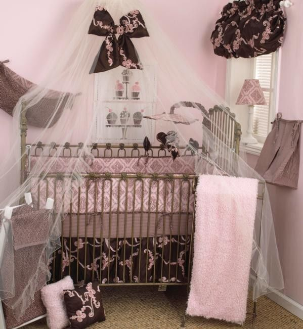 Take A Look At This Pink Brown Cupcake Crib Bedding Set By Cotton Tale Designs On Today Netting And Bow Idea