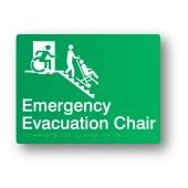 Emergency Evacuation Chair, Braille Sign Supplies Accessible Exit Sign http://braillesignsupplies.com.au/stock-sign-categories/brailleform/egress.html Part of the Accessible Exit Sign Project #accessibleexitsigns