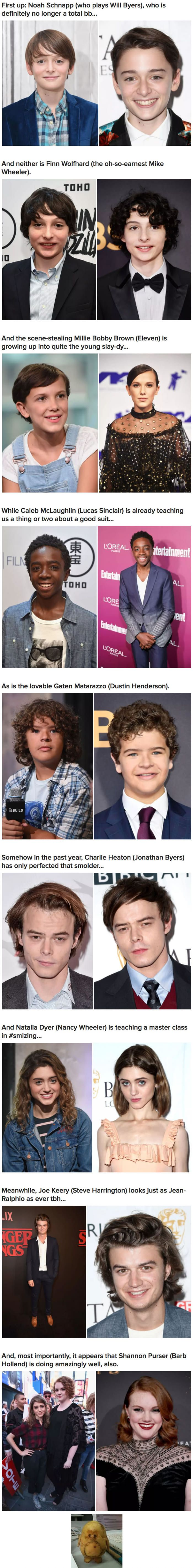 """It's A Year After The """"Stranger Things"""" Series Premiere, Spot The Difference Of The Cast"""