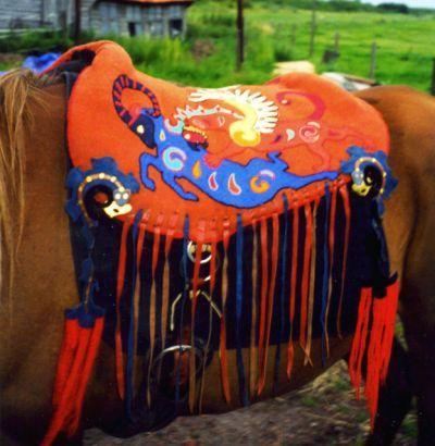 scythian saddle, reconstruction