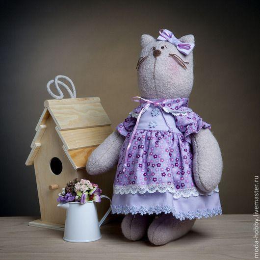 """Куклы и игрушки ручной работы. Ярмарка Мастеров - ручная работа. Купить Набор для шитья """"Кошка Анфиса"""". Handmade. Сиреневый"""