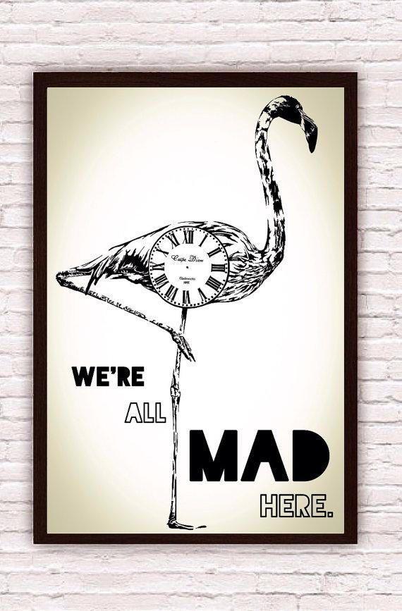 Alice in Wonderland Poster - Alice in Wonderland Print - Alice in Wonderland Quote - Alice in Wonderland Gift - Disney Poster - Disney Decor