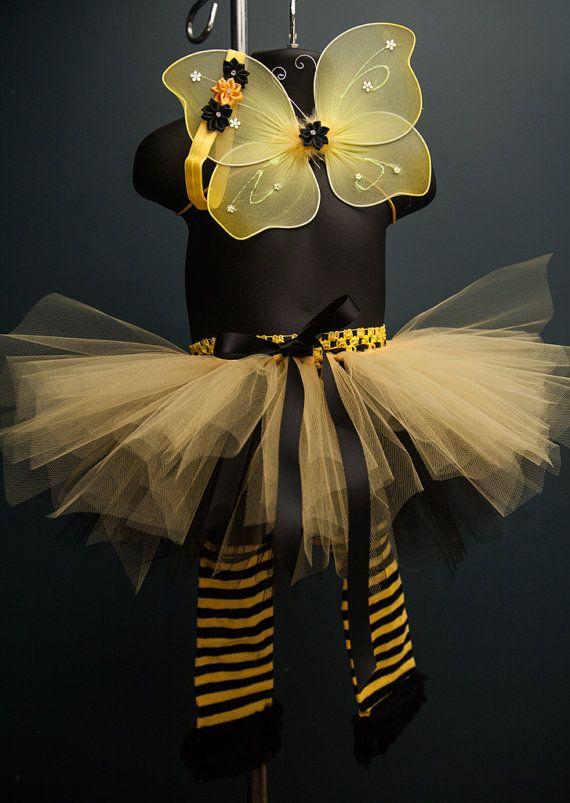 Newborn Girls Baby Bumble Bee Costume Dress Play