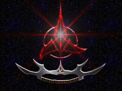 the daily klingon trefoil and sword of kahless star
