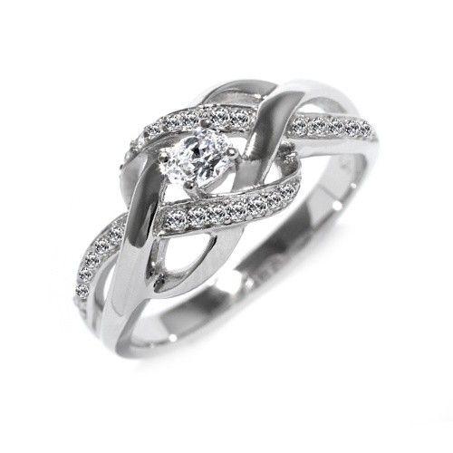 Stříbrný prsten Silvego se zirkony EWER02989 velikost 49