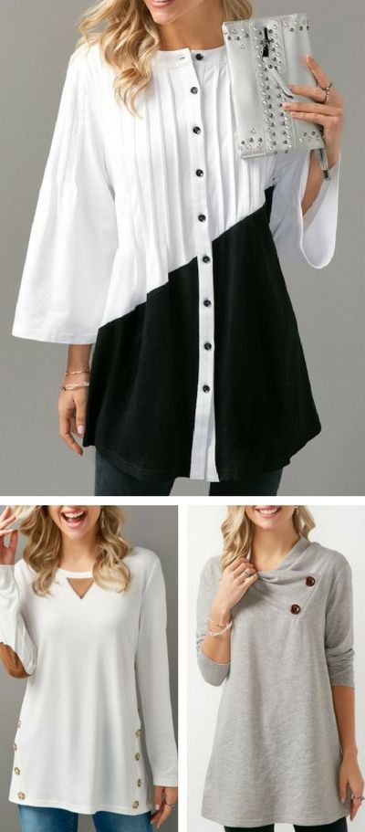 top, long sleeve top, casual top, cotton top, high quality top, top 2018 trend, free shipping at Rosewe.com.